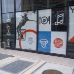 Window graphics produced and installed by CSI for the Yards DC