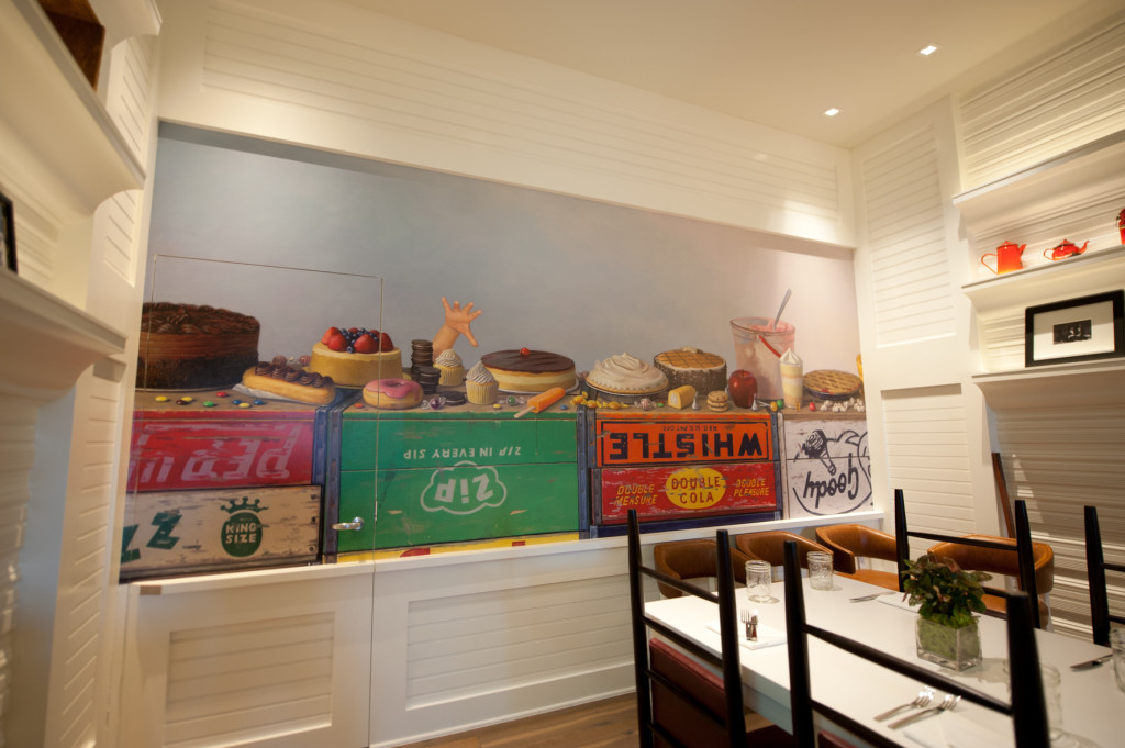 custom wallpaper produced and installed by CSI at America Eats Tavern