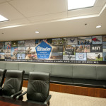 Silicone Edge Graphics (SEG) and frame produced and installed by CSI for Pentagon Federal Credit Union