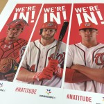 Pole banners produced by CSI for the Washington Nationals in production at our facility. Visit csi2.com for more information.