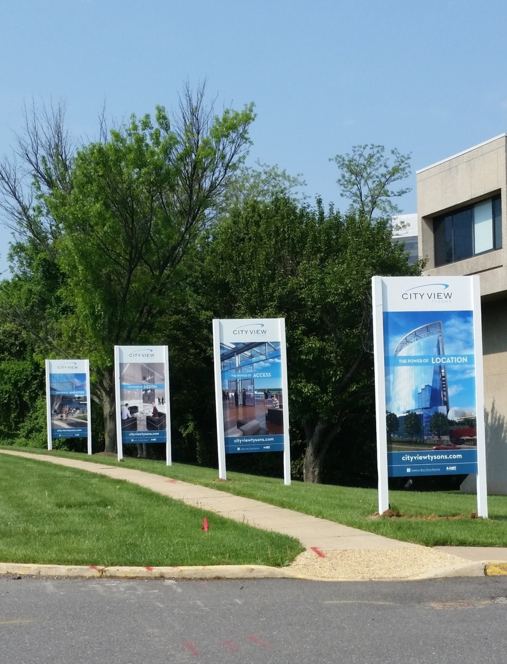 Site sign produced and installed by CSI for City View Tysons. Visit csi2.com for more information.