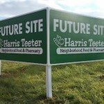 Site signs produced and installed by CSI for Harris Teeter. Visit csi2.com for more information.