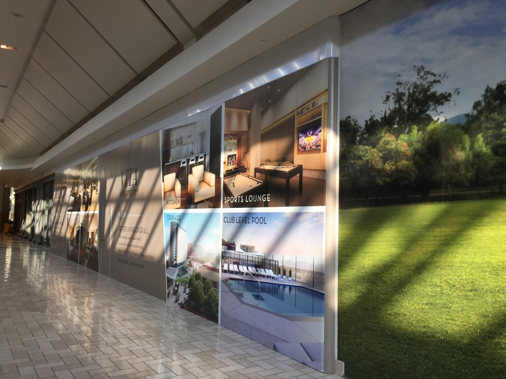 Large Adhesive Wall Mural at Tysons Corner Center