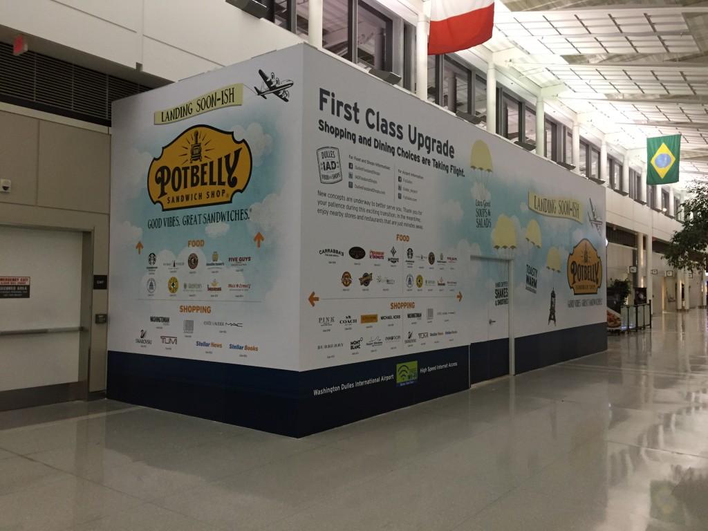 Adhesive Wall Mural at Washington Dulles International Airport
