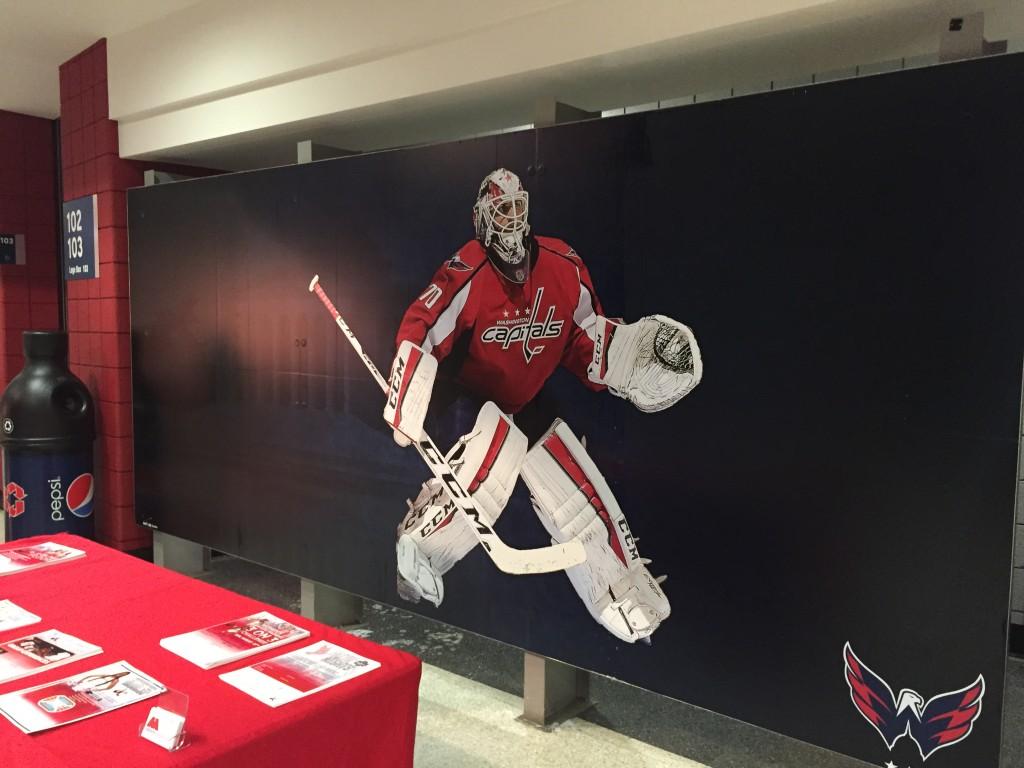Washington Capitals Adhesive Wall Mural at the Verizon Center