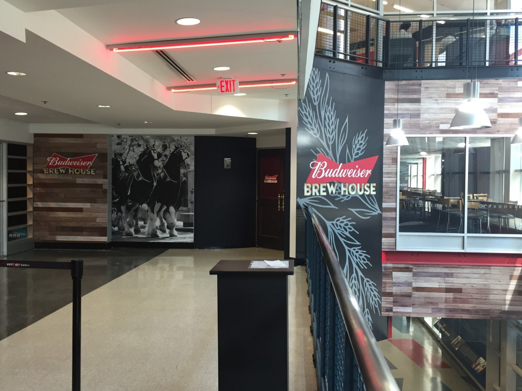 Budweiser - Anhesuer Busch Adhesive Wall Mural at the Verizon Center