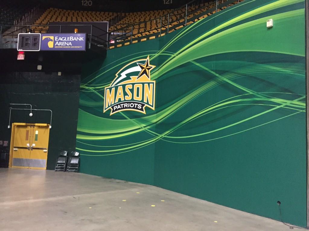George Mason Adhesive Wall Mural at Eagle Bank Arena