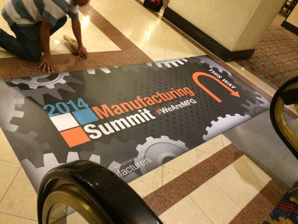 Interior floor graphic produced by CSI for the National Association Of Manufacturers (NAM) 2014 Manufacturing Summit