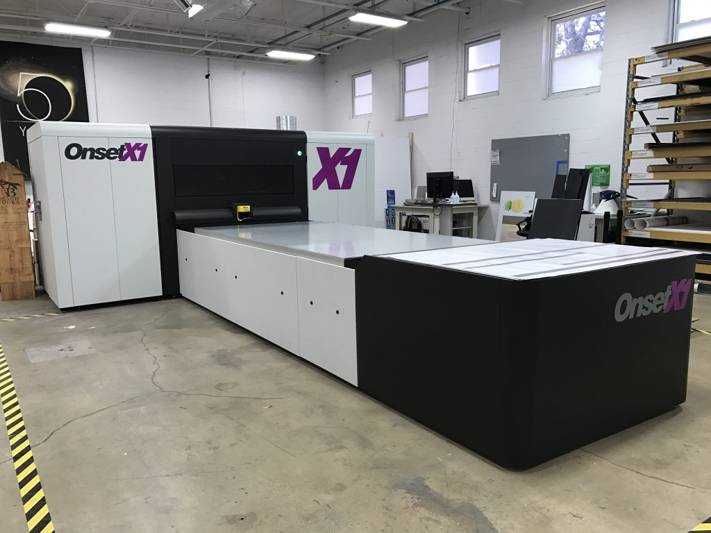 CSI's newly installed Inca Onset X1 Digital UV Flatbed Printer