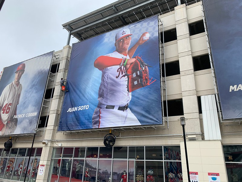 Juan Soto Mesh Banner at Nationals Park, printed and installed by CSI. CSI March 2021 Newsletter.